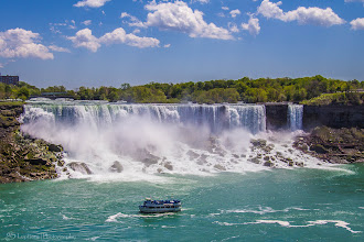Photo: American & Bridal Veil Falls, Niagara Falls, Ontario, Canada