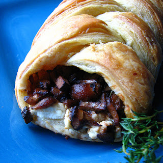 Wild Mushroom and Goat Cheese Puff Pastry Braid Recipe