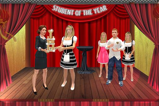 Virtual Girl Life: New High School Girl Sim android2mod screenshots 11