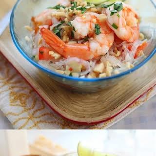 Yum Woon Sen (Thai Noodle Salad with Shrimp).