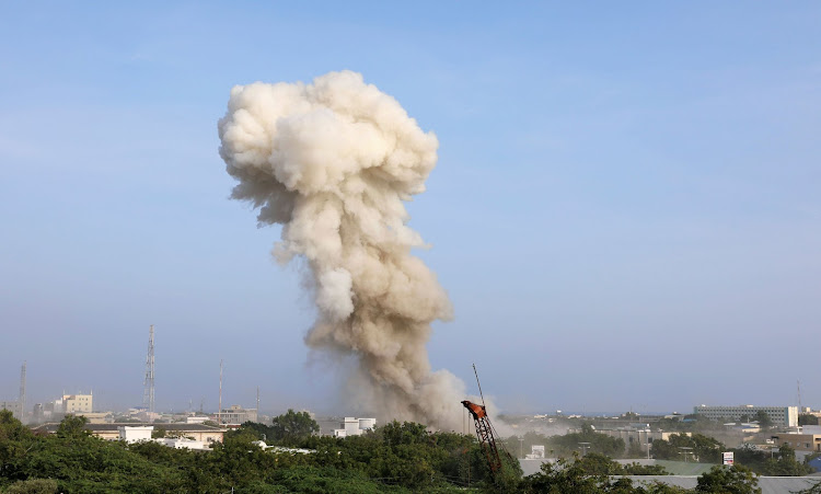 Smoke billows from the scene of an explosion in Mogadishu, Somalia, November 9 2018. Picture: REUTERS/FEISAL OMAR