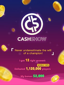 Cash Show - Win Real Cash! APK screenshot thumbnail 10