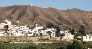 Imagen del pueblo de Alhabia.