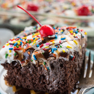 Ice Cream Poke Cake