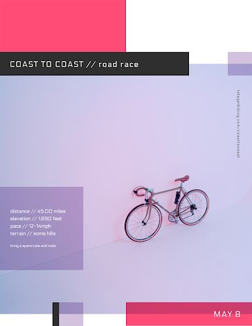 Coast to Coast Road Race - Flyer Template