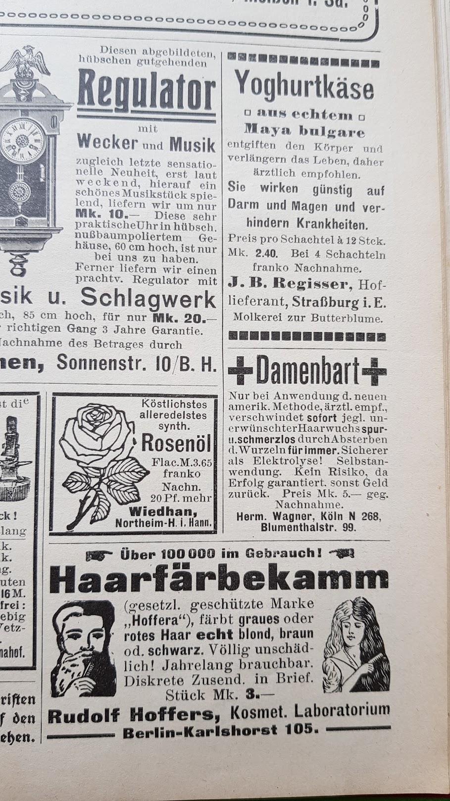 Großer Volkskalender des Lahrer hinkenden Boten - 1914 - Werbung