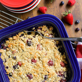 Triple Berry Coconut Crisp.