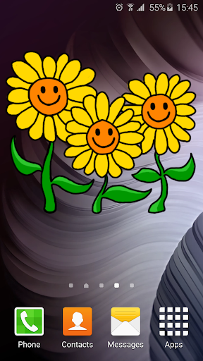 Sunflowers Live Widget