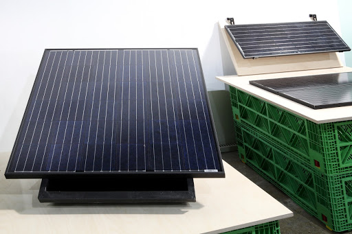 Panel system for the landscape-friendly photovoltaic power generation system