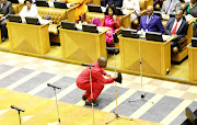 Julius Malema does the vosho in the National Assembly ahead of being sworn in as an MP on May 22 2019.