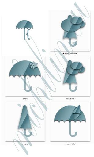 Meteo Umbrella Blue for Kustom