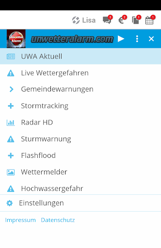 Unwetteralarm Deutschland  screenshots 2