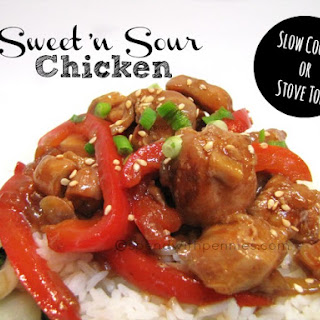 Sweet 'n Sour Chicken! Slow Cooker or Stove Top.
