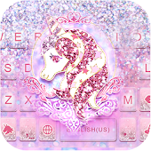 Glitter Unicorn Keyboard Theme