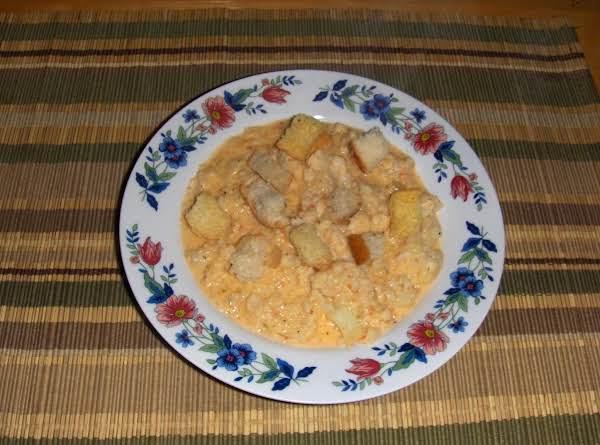 Cream Of Cauliflower & Roasted Pepper Pastina Recipe