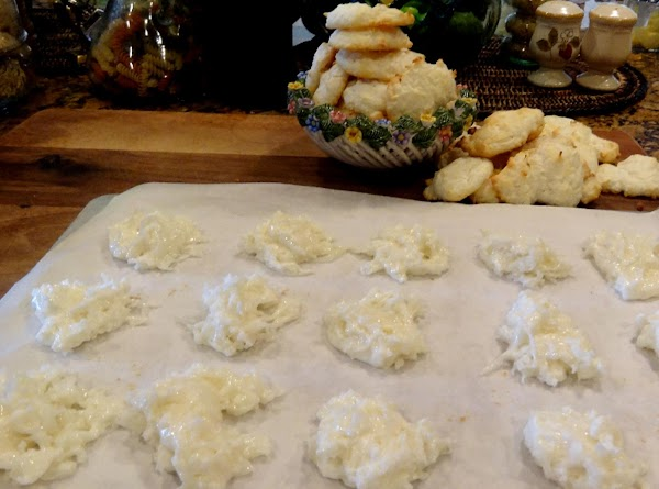 Drop the cookies by heaping teaspoon onto the baking sheet, two inches apart. (I...