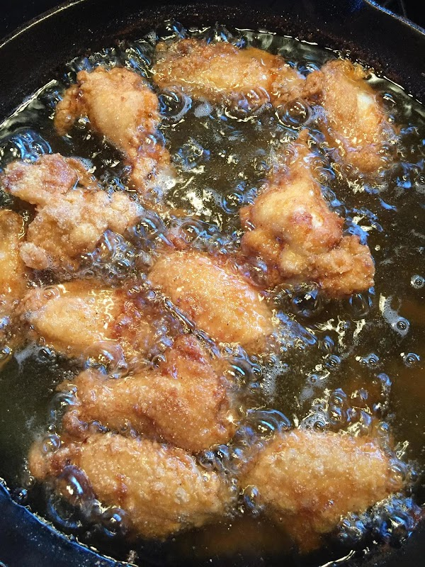 Heat oil to 350 in a large cast iron skillet,reduce heat to Medium ...