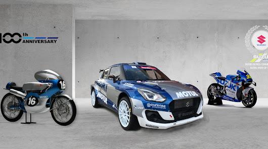 Los  Suzuki  Swift Rally  S Correrán con los colores del equipo Suzuki de MotoGP