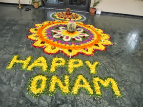 Photo: Onam - Floral Display Competition