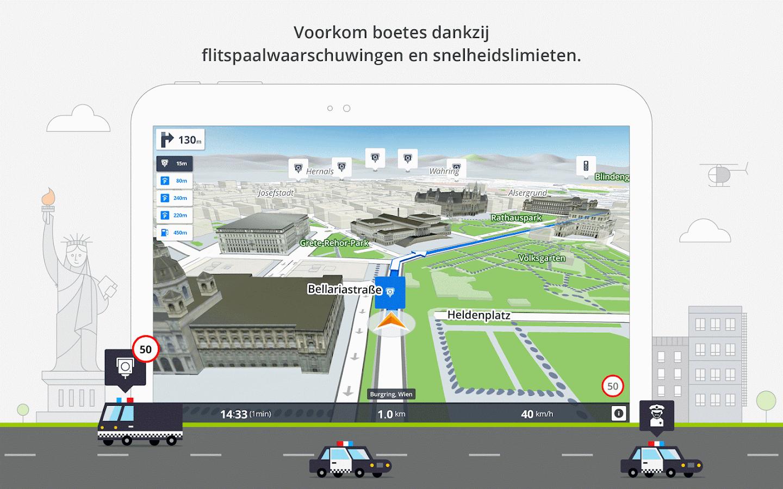 GPS Navigatie en Kaarten Sygic