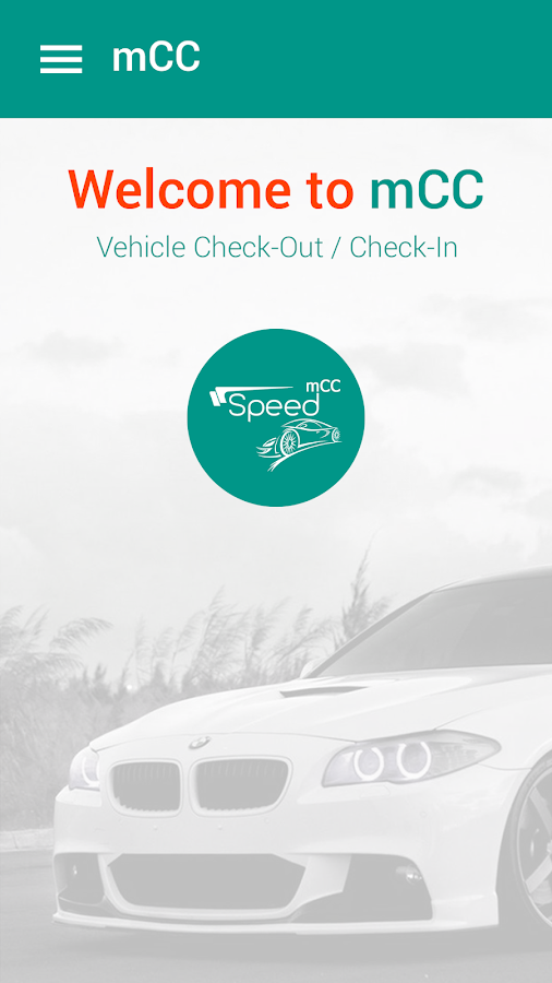 Vehicle Check-out/Check-in App- screenshot