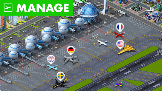 Airport City Mod Apk (Free Shopping) 7.24.17 1