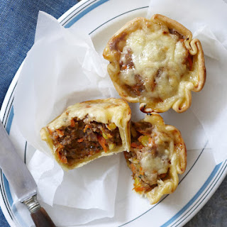 Individual Turkey and Vegetable Pies.
