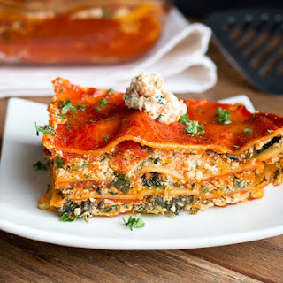 Vegetable Tofu Ricotta Lasagna.