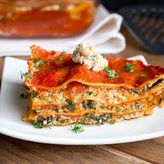 Vegetable Tofu Ricotta Lasagna.