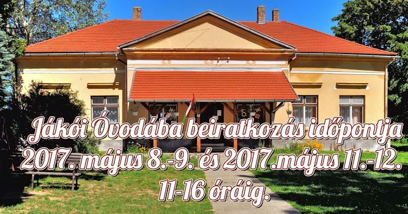 Jákói Óvoda beiratkozás 2017