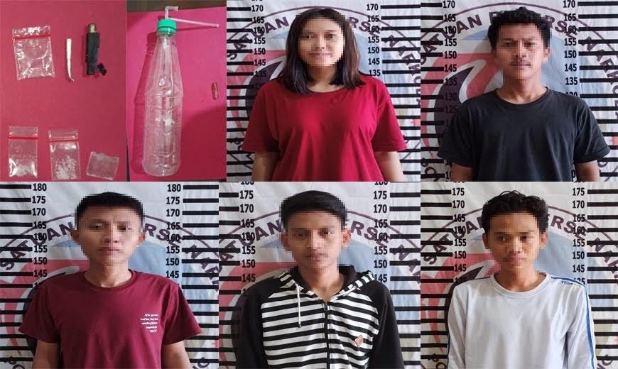Satresnarkoba Polres Tulang Bawang Gerebek Kontrakan Yang Jadi Tempat Pesta Narkotika