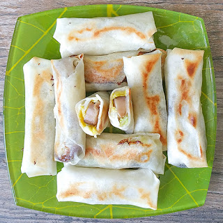 Pan Fried Shanghai Spring Rolls – Vegetarian Version