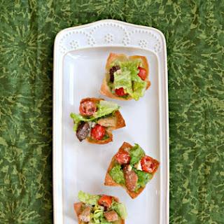 Caesar Salad Lettuce Cups.