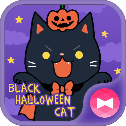 Cute Wallpaper Black Halloween Cat Theme Icon