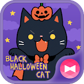 Cute Wallpaper Black Halloween Cat Theme