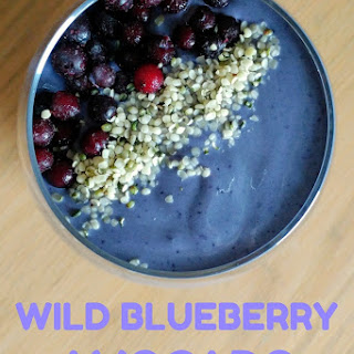Wild Blueberry Avocado Protein Smoothie.