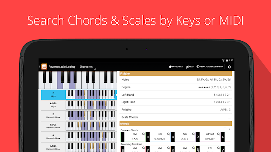 Piano Chords, Scales Companion- screenshot thumbnail