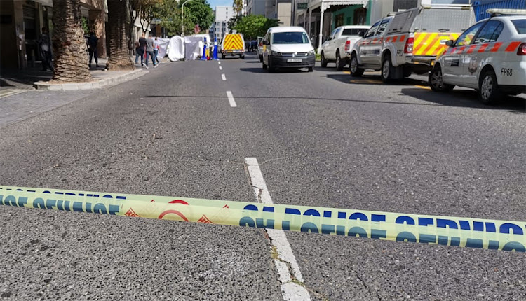 The road outside the Pepperclub Hotel in central Cape Town was closed by police on Sunday morning.