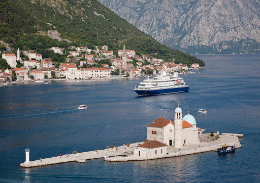 Seadream-Kotor.jpg - Enjoy the dramatic shoreline of Kotor, Montenegro, on a SeaDream cruise.