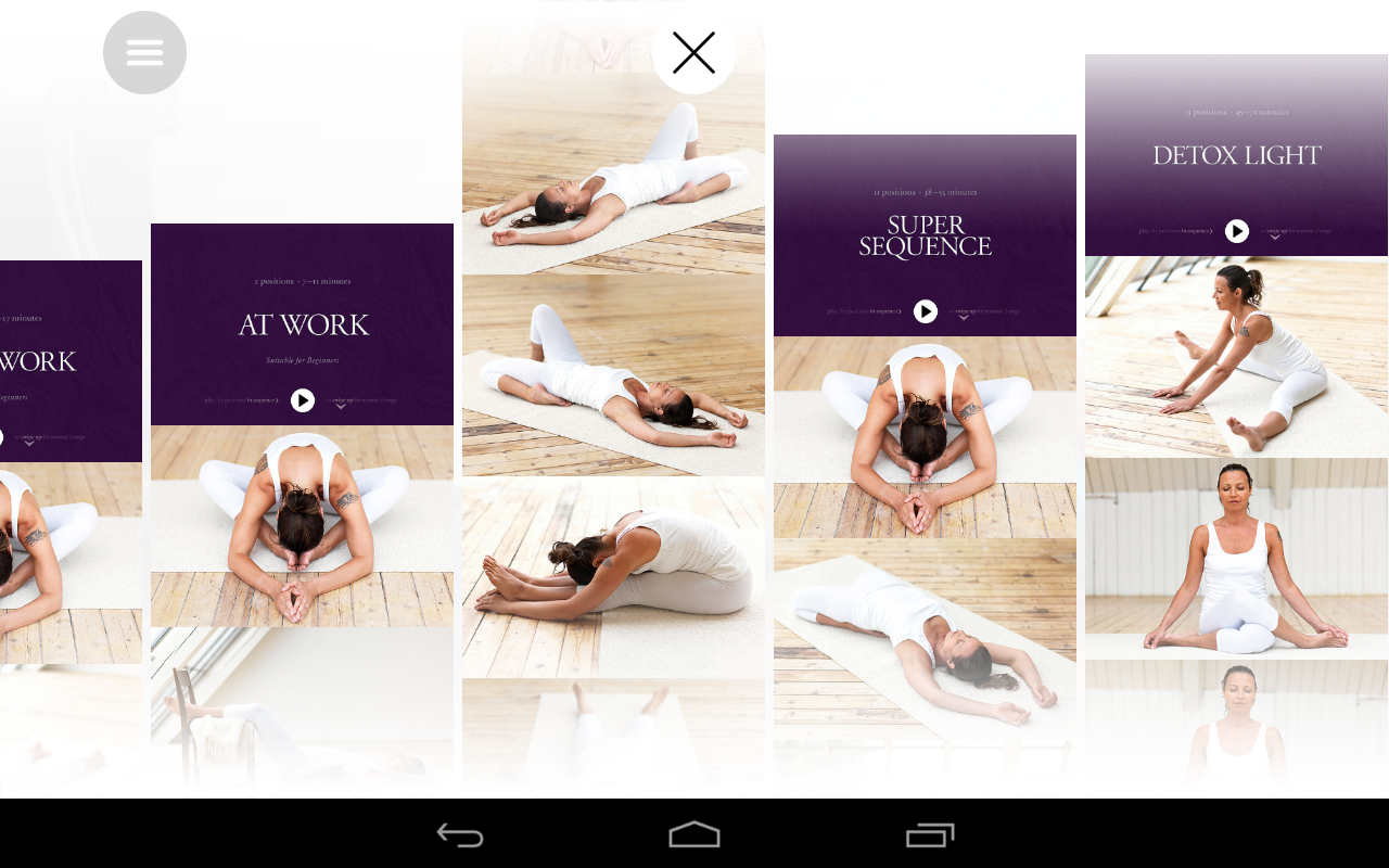 Yin yoga- screenshot