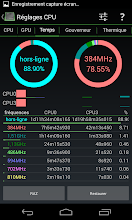 Photo: CPU times with dual pie chart showing offline or online only