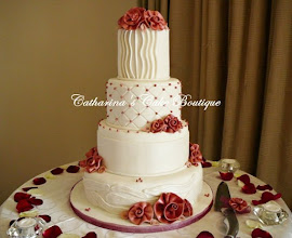 Photo: EDITOR'S CHOICE 2/21/2012  Old charm ribbon roses wedding cake by Catharinas Cakes  View cake details here: http://cakesdecor.com/cakes/7741 View all cakes by Catharinas Cakes: http://cakesdecor.com/Catharinascakes/cakes