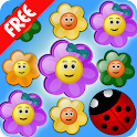 Flowers and Ladybug icon