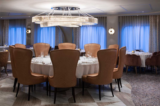 Cosmopolitan features creative new American cuisine with global influences served in an elegant setting aboard Celebrity Apex.