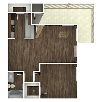 Go to One Bedroom B Floorplan page.