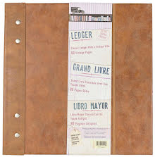 7 Gypsies Architextures Ledger Book 12X12 - Faux Leather W/Metal AccentsUTGÅENDE