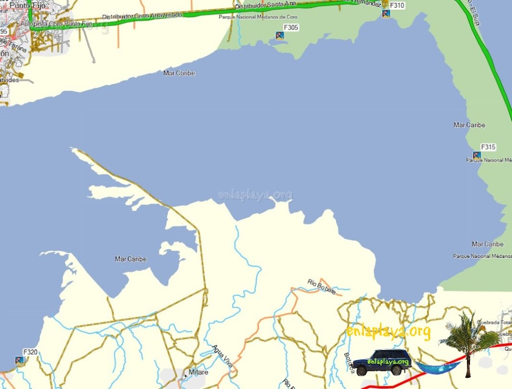 Mapa de Playas del Sector Mitare