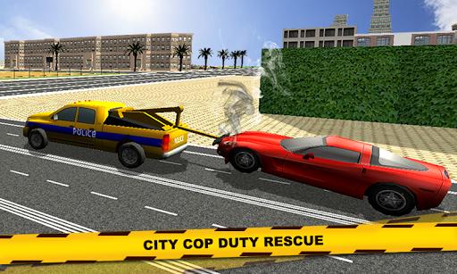 現代の警察レッカー車