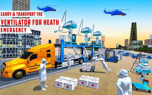 US Police Train Transporter Truck Robot Stunt Game 1.4 screenshots 11