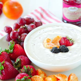 Raspberry & Cream Cheese Yogurt Dip.